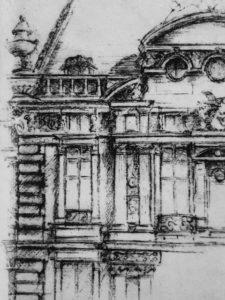 Impression sur le papier de la plaque, cours de gravure