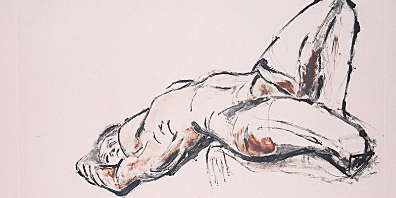 Atelier de dessin-Monotype d'après un modèle vivant par Aga Werner