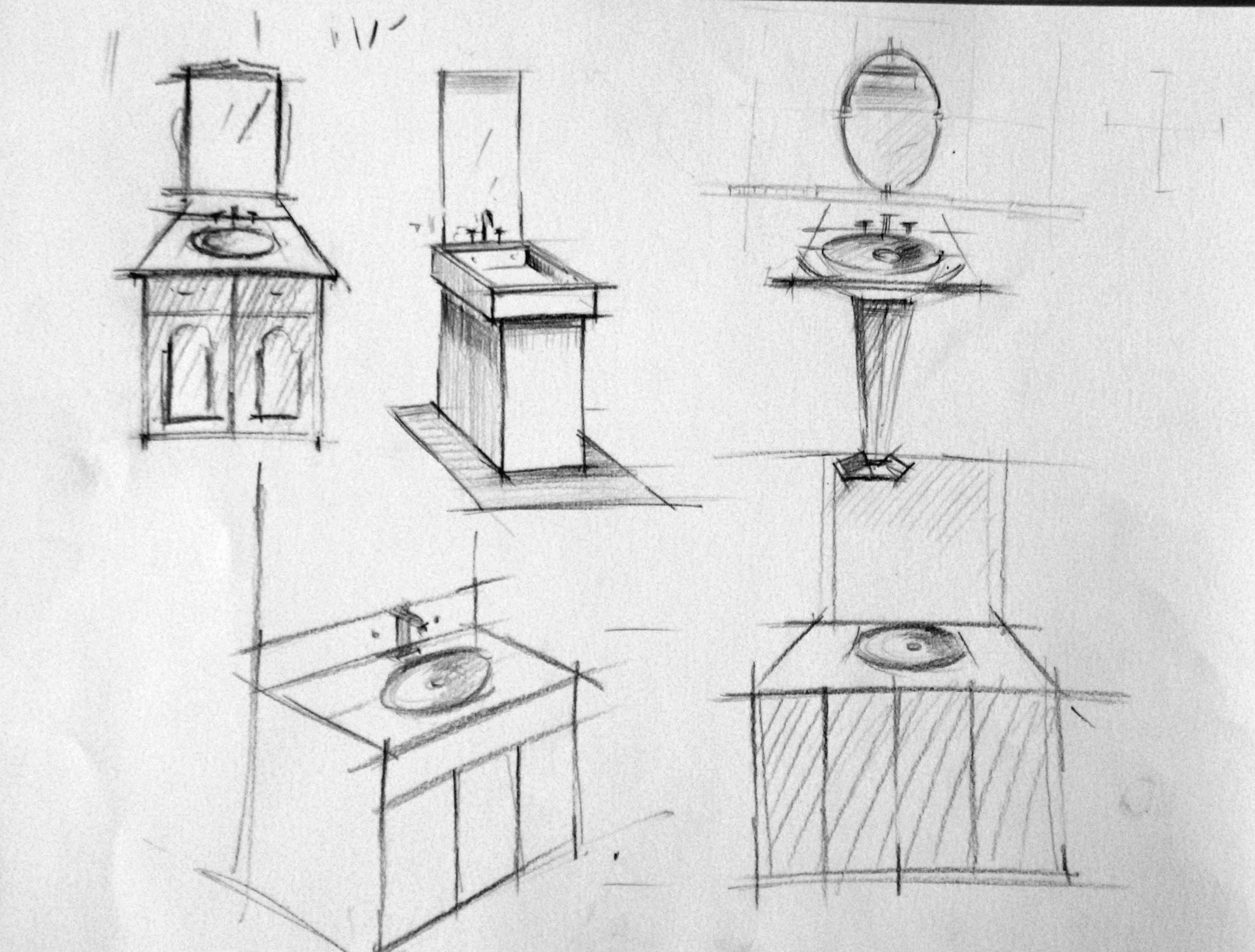Croquis en perspective -salle de bain
