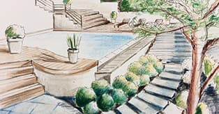 Croquis de paysage - Cours de dessin