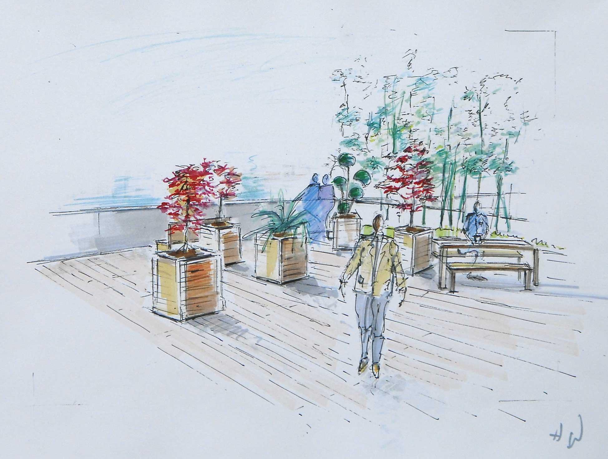 Maison Dessin Perspective : Croquis d architecture et de paysage cours dessin