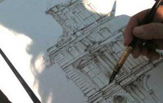 Cours de dessin en plein air par Aga Werner Paris
