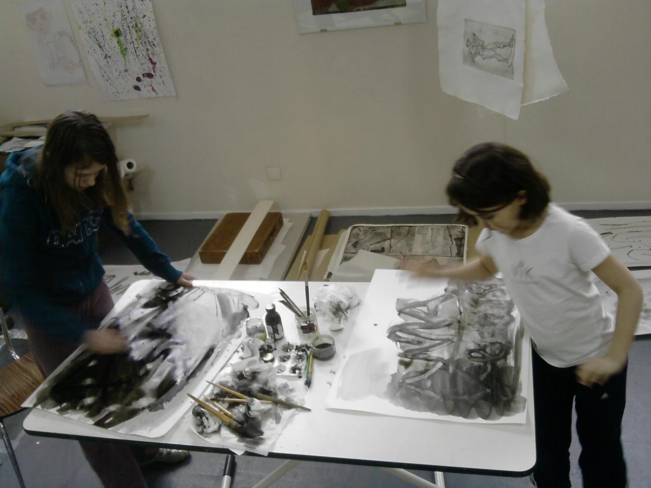 Cours de dessin et peinture Adolescents et Enfants - Peinture monochrome