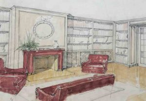 Dessin d'amenagement dinterieur