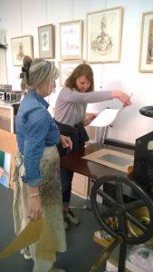 reportage du cours de gravure