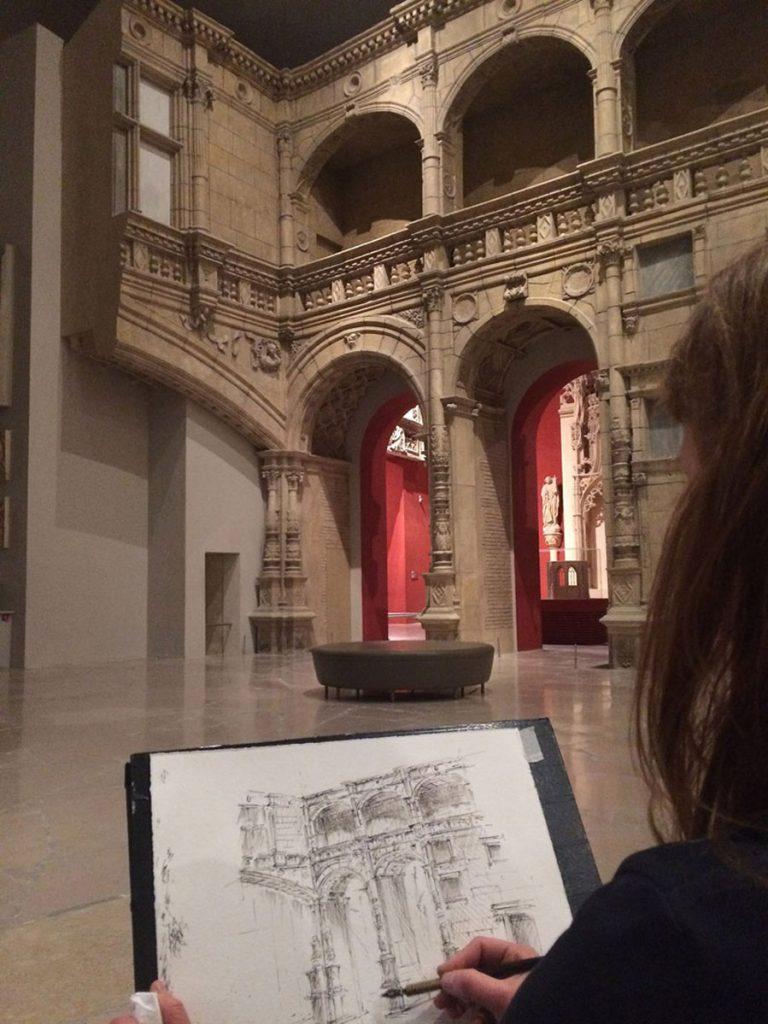 Cours de dessin à la Cité de l'architecture
