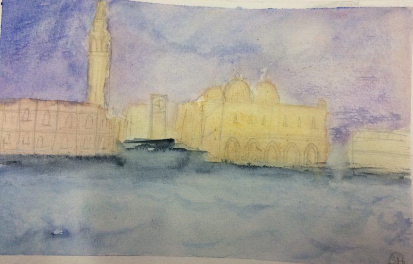 Cours de peinture pour des adolescents - Aquarelle réalisée par Shana 13 ans