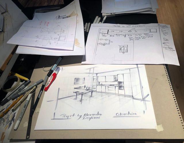 Illustration aménagement d'intérieur