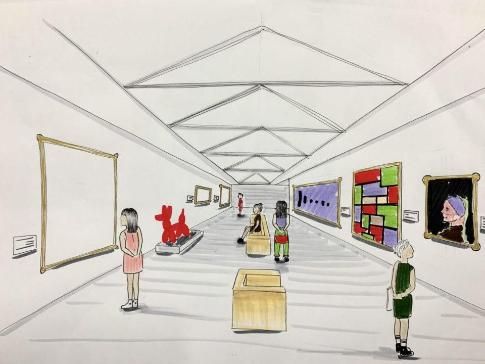 Atelier des Enfants -dessin en perspective